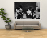 Young Boys Horsing Around in a New York City Grade School Classroom Premium Wall Mural by Howard Sochurek
