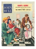 John Bull, Launderettes Washing Machines Appliances Magazine, UK, 1954 Posters
