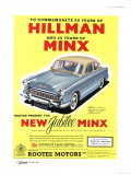 Hillman, Jubilee Edition Hillman Minx Cars, UK, 1950 Prints