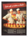 Bakers Bread, USA, 1940 Giclee Print