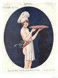 Le Sourire, Erotica Cooking Sex Magazine, France, 1926 Giclée-tryk