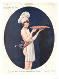 Le Sourire, Erotica Cooking Sex Magazine, France, 1926 - Giclee Baskı