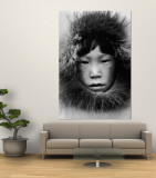 Eskimo Wall Mural by Margaret Bourke-White