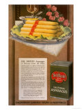 Del Monte, Asparagus, California Vegetables, USA, 1920 Lámina giclée