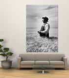 Farmer Posing in His Wheat Field Wall Mural by Ed Clark