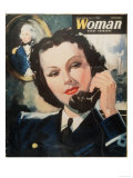 Woman, Navy Women at War, WWII Magazine, UK, 1940 Giclee Print