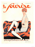 Le Sourire, Glamour Art Deco Pets Cats Womens Magazine, France, 1928 Giclee Print