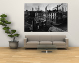 Bomb Damaged Buildings in the Shadow of the Thyssen Steel Mill Wall Mural by Ralph Crane