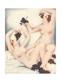 Le Sourire, Erotica Wine Grapes Sex Magazine, France, 1930 Giclee Print