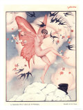 Le Sourire, Erotica Swallows Butterflies Magazine, France, 1920 Giclee Print