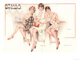 Glamour Erotica Womens Bars Cocktails, France, 1920 Giclee Print