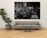 View of Jefferson Street on Saturday Night Premium Wall Mural by Bernard Hoffman