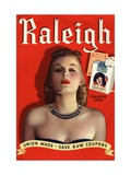 Raleigh, Glamour Cigarettes Smoking, USA, 1930 Giclee Print