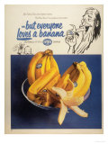Fyffes Bananas Fruit, UK, 1950 Posters