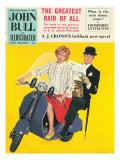 John Bull, Scooters City Gents Bowler Hats Commuters Magazine, UK, 1958 - Giclee Baskı