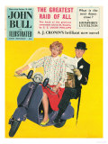 John Bull, Scooters City Gents Bowler Hats Commuters Magazine, UK, 1958 ジクレープリント