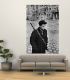 Hungarian Freedom Fighter During Revolution Against Soviet Backed Government Premium Wall Mural by Michael Rougier