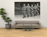 Yugoslavian Infantrymen and Office Singing &quot;Tito, Tito, Little Flower, Beloved by All the Youth.&quot; Wall Mural by John Phillips