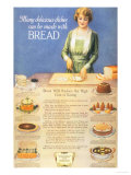 Bakers Bread, USA, 1910 Giclee Print