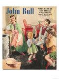 John Bull, Cooking Pancakes Magazine, UK, 1950 Giclée-tryk