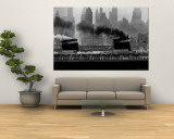 S.S. United States Sailing in New York Harbor Wall Mural by Andreas Feininger