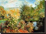 Stiller Winkel im Garten von Montgeron Stretched Canvas Print by Claude Monet