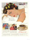 Sleep Sleeping Coffee Smell Aroma Wak Breakfast in Bed Expression, USA, 1950 Prints