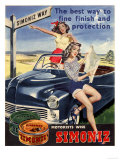 Simoniz Cars Wax Polish Sex Objects Sexism Discrimination, UK, 1950 Posters