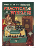 Practical Wireless, DIY Radios Tape Recorders Magazine, UK, 1950 Giclee Print