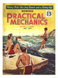 Practical Mechanics, Water Skiing Magazine, UK, 1957 Giclee Print
