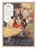 Eau De Cologne, UK, 1920 Giclee Print