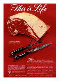 Meat, USA, 1940 Impression giclée