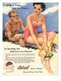 Sun Creams Lotions Tan Tanning Sunburn Astral Suntans Sunbathing, UK, 1950 Giclee Print
