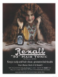 Rexall, Hair Shampoo Tonic, USA, 1910 Prints