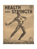 Health and Strength, Body Building Fitness Exercise Gay Magazine, UK, 1938 Art