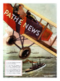 Pathe News, Aviation, USA, 1920 Art
