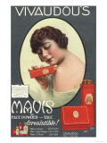 Mavis Talcum Powder Vivaudou's, USA, 1910 Art