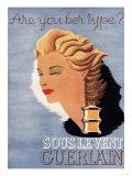 Guerlain, Guerlain Sous Le Vent Womens, UK, 1937 Giclee Print