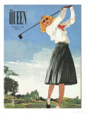 The Queen, Golf Womens Magazine, UK, 1940 Giclee Print