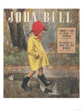 John Bull, Raining Stepping in Puddles Seasons Winter Magazine, UK, 1947 Giclee Print