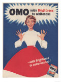 Omo, Washing Powder Detergent, UK, 1950 Giclée-vedos