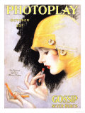 Photoplay Lipsticks Putting On Magazine, USA, 1920 Prints