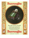 Equipment Burroughs, Adding Machines, Accountants, USA, 1929 Giclee Print