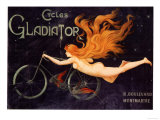 Gladiator Bicycles, France, 1905 Prints