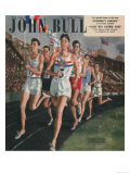 John Bull, Sports Races Athletes Runners Running Olympics Athletics Magazine, UK, 1948 Prints