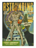 Astounding Science Fiction, Visions of the Future, Space Pulp Fiction Magazine, USA, 1939 Prints