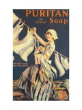 Puritan, Washing Powder Products Detergent, UK, 1910 Print