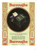 Equipment Burroughs, Adding Machines, Accountants, USA, 1929 Posters