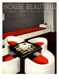 House Beautiful, Furniture Backgammon Board Games Magazine, USA, 1930 Giclee Print