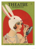 Theatre Magazine, Rabbits Bunny Girls Make Up Makeup Magazine, USA, 1924 Giclee Print